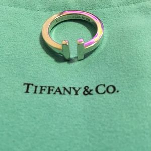 NWT Tiffany & Co T Square Ring silver size 7